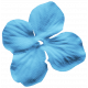 At The Farm Flower- Blue