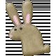 Garden Bunny- Brown Bunny