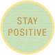 Sunshine & Lemons Label- Stay Positive