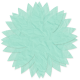 Tissue Paper Flower- Teal