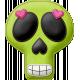 Felt Skull 02- Mexico