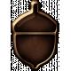 Metal Acorn