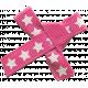 Bow 179 Pink Stars- Ribbons #014