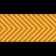 Fat Ribbon- Chevron 01- Orange