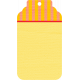 City Bicycle Mini #2- Yellow Tag