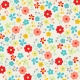 City Bicycle- Floral Paper- Multicolor
