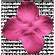 Sweet Summer- Dark Pink Fabric Flower