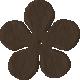 Bedouin Flower- Brown