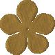 Bedouin Flower- Brown 2