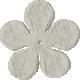 Bedouin Flower- White