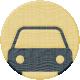 Road Trip- Car Wood Coin
