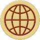 Road Trip- Globe Wood Coin