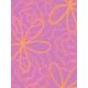 Garden Party Journal Cards- Pink & Orange Flower Card
