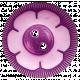 Garden Party Button- Purple Flower