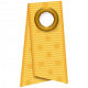 Folded Ribbon- Yellow Polka Dots