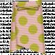 Folded Ribbon- Pink & Green Polka Dots