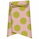 Folded Ribbon- Pink & Green Polka Dots