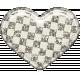 Plastic Glitter Heart- White