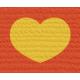 Bolivia Label- Gold Heart