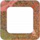 Bolivia Cork Elements- Round Edge Frame Painted