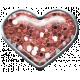 Bolivia Mini Kit- Pink Glitter Heart Brad