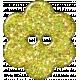 Yellow Flower Glitter Plastic Button