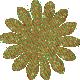 Green & Orange Glitter Flower