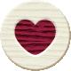 Autumn Art- Wood Heart