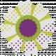 Veggie Patch Paper Flower- Purple