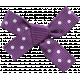 Autumn Art Bow- Purple