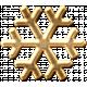 Metal Snowflake 01- Gold
