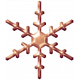 Metal Snowflake 02- Copper