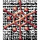 Metal Snowflake 04- Copper