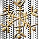 Metal Snowflake 05- Gold