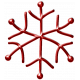 Metal Snowflake 06- Red