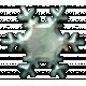 Metal Snowflake 08- Blue