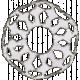 Paper Glitter Snowflake- Gray