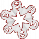 Paper Glitter Snowflake- Red