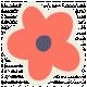 Kawaii Halloween Paper Flower- Orange