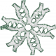 Paper Glitter Snowflake- Teal