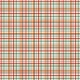 Plaid Paper 11- Red, Orange & Mint