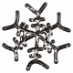 Snowflake Glitter Sticker- Brown