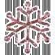 Snowflake Glitter Sticker- Pink