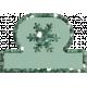 Very Tiny Transparent Tab- Snowflake 2