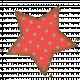 Coral Polka Dot Star