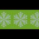 Fat Ribbon- Snowflakes- Green & Blue