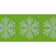 Fat Ribbon- Snowflakes- Green & Blue