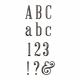 Plastic Glitter Alpha- Brown- Serif