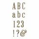 Plastic Glitter Alpha- Gold- Serif