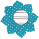 Blue Polka Dot Flower